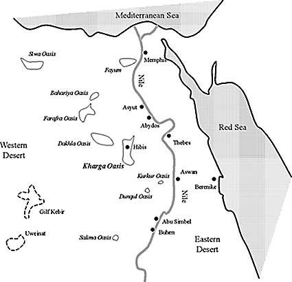 NKOS Home Page - Map of egypt oasis